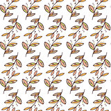 Vector seamless floral pattern with branches