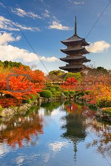 Toji Pagoda in Japan