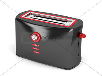 Black electric toaster