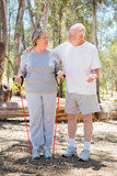 Happy Senior Couple Exercising Outside Together