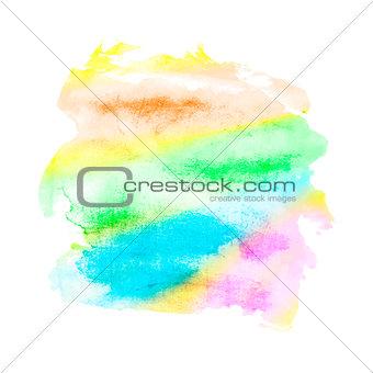 Watercolor mixed colors