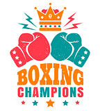 vintage logo for boxing