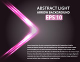 Abstract background with light arrow. Pink elements