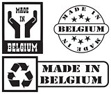 Set stamp imprints Made in Belgium