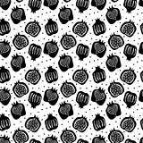 seamless pattern with pomegranate . vector