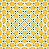 seamless pattern with chamomile flowers. vector