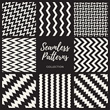 Vector Seamless Black And White Pattern Collection