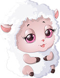 nyashnye sheep on a white background