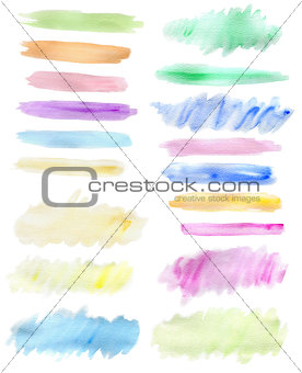 Abstract horizontal watercolor blots