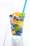 Summer fruit water.