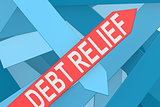 Debt relief arrow pointing upward