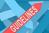 Guidelines arrow pointing upward
