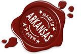 Label seal of made in Arkansas