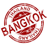 Red Bangkok stamp