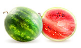 Photo watermelon and slice