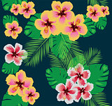 Seamless Tropical Flowers