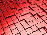 red tiles background
