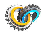 two gear wheels