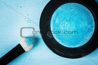 Blue Bright Eyeshadows Close-up