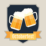Oktoberfest beer festival logo design. Flat Illustration.