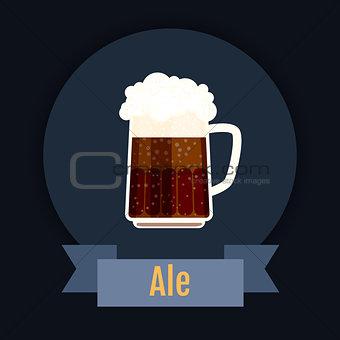 Oktoberfest beer festival logo design. Flat Illustration.