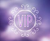 Vector text VIP