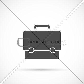 Briefcase icon on white background