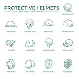 Protective Helmets Icons