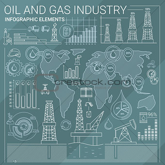 Oil and Gas Industry Infographic Elements