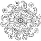 coloring book antistress style picture