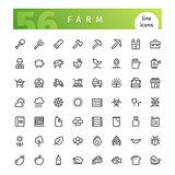 Farm Line Icons Set