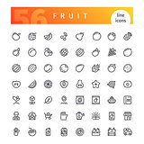 Fruit Line Icons Set