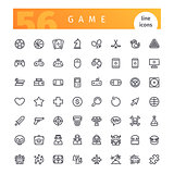 Game Line Icons Set