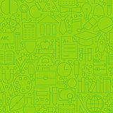 Line School Green Seamless Pattern
