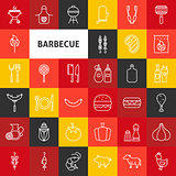 Vector Line Barbecue Icons