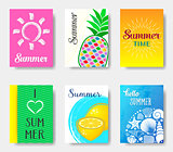 Beautiful summer cards collection