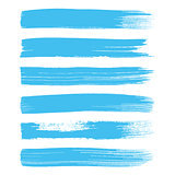 Blue vector art brush strokes collection