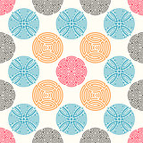 Colorful seamless ornamental pattern
