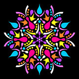 Colorful vector geometric abstract mandala