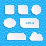 Simple vector buttons with shadows