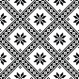 Seamless Ukrainian or Belarusian folk art embroidery black pattern