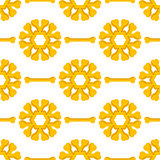 Set of Yellow Bones. Seamless Pattern