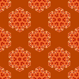Creative Ornamental Seamless Orange Pattern