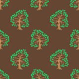 Green Tree Seamless Pattern.