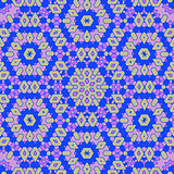 Creative Ornamental Blue Pattern