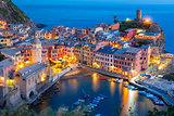Night Vernazza, Cinque Terre, Liguria, Italy
