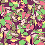 Seamless geometric pattern bright colors