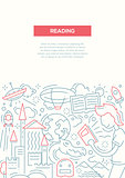 Reading - line design brochure poster template A4