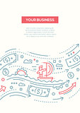 Your Business - line design brochure poster template A4