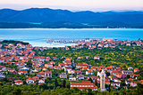 Adriatic town of Murter bay aerial view